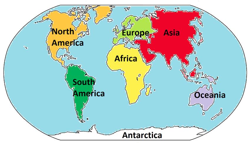 de 5 kontinenter